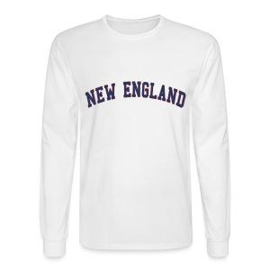 New England Men's Long Sleeve Tee - Men's Long Sleeve T-Shirt