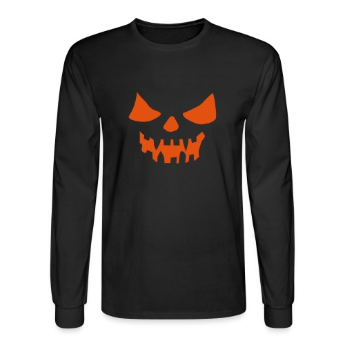 Pumpkin Grin - Men's Long Sleeve T-Shirt