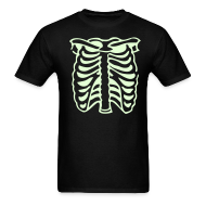 T-Shirts ~ Men's T-Shirt ~ SKELETON CHEST Glow in the Dark T-Shirt