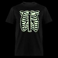 T-Shirts ~ Men's T-Shirt ~ SKELETON CHEST Glow in the Dark T-Shirt