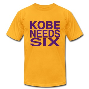 Kobe Needs Six - Men's T-Shirt by American Apparel