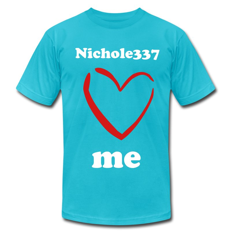Nichole337 loves me GUYS - Men's T-Shirt by American Apparel