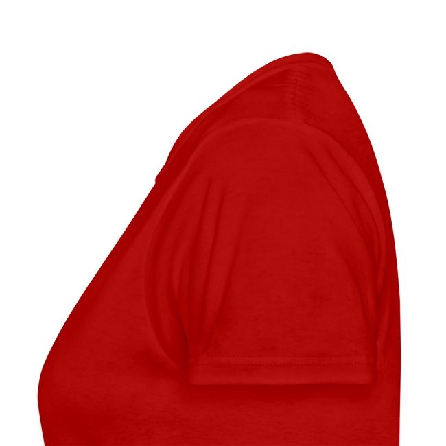 Red Banza Chicks Cartoon School Girl Ladies T-shirt