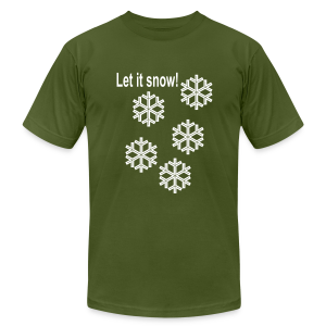 Let it snow - Men's T-Shirt by American Apparel
