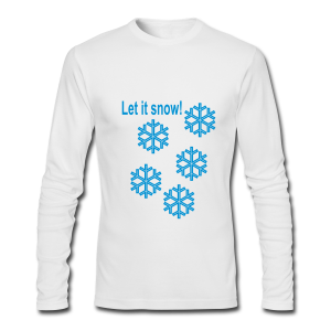 Let it snow - Men's Long Sleeve T-Shirt by Next Level