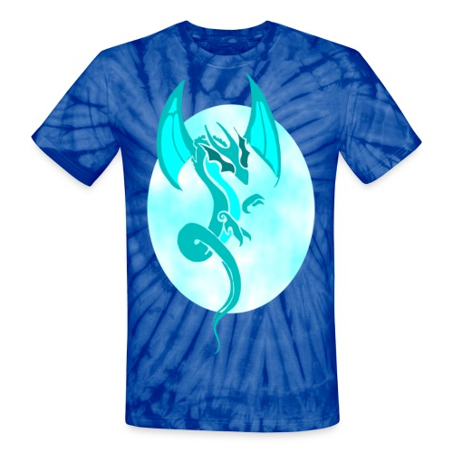 Blue Dragon Clouds - Unisex Tie Dye T-Shirt
