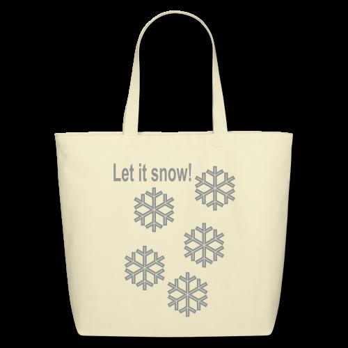 Let it snow - Eco-Friendly Cotton Tote