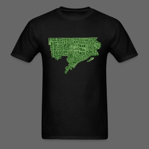 Green Detroit Neighborhoods Map Men's Standard Weight T-Shirt - Men's T-Shirt