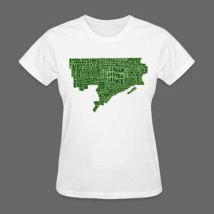 Green Detroit Neighborhoods Map Women's Standard Weight T-Shirt - Women's T-Shirt