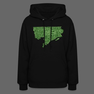 Green Detroit Neighborhoods Map Women's Hooded Sweatshirt - Women's Hoodie