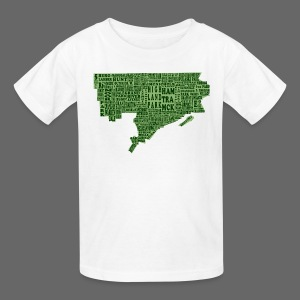 Green Detroit Neighborhoods Map Children's T-Shirt - Kids' T-Shirt
