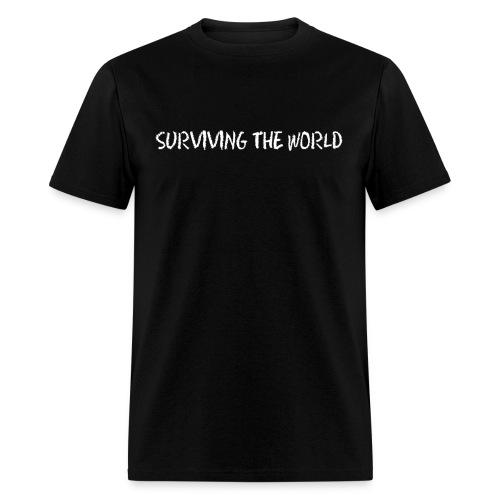 Surviving the World (Front + Back) - Men's T-Shirt