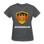 T-Shirts ~ Women's T-Shirt ~ DeutscheMusik.nut Womens Tshirt Black