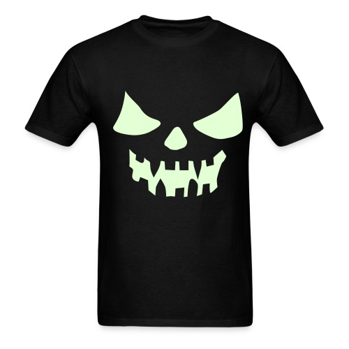 Men's T-Shirt - Spooky face that glows in the dark!