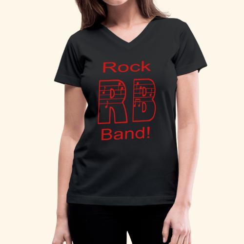Rock Band - Women's V-Neck T-Shirt