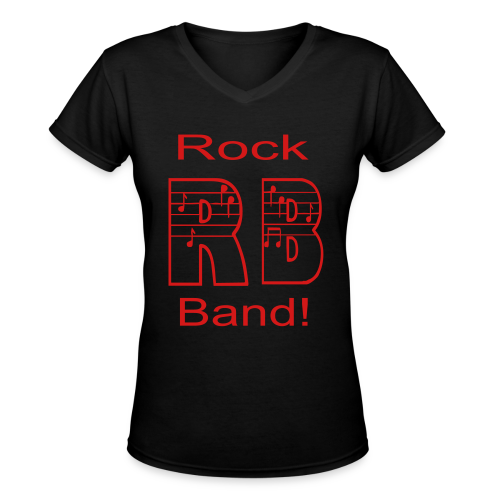 Rock Band - Women's V-Neck T-Shirt