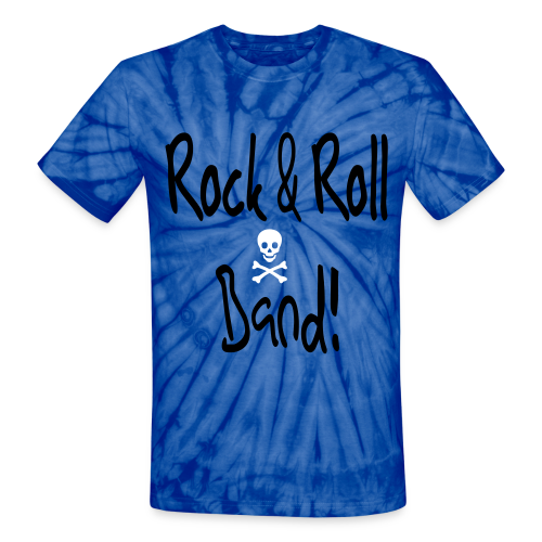 Rock and Roll Band - Unisex Tie Dye T-Shirt
