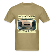 T-Shirts ~ Men's T-Shirt ~ Blues & the Beat t-shirt (tan)