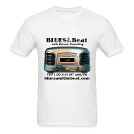 T-Shirts ~ Men's T-Shirt ~ Blues & the Beat t-shirt (white)