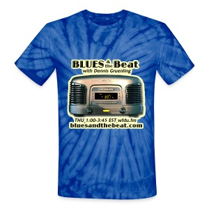 Blues & the Beat tie-dye t-shirt (navy) - Unisex Tie Dye T-Shirt