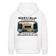 Hoodies ~ Men's Hoodie ~ Blues & the Beat hoodie (white)