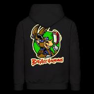 Hoodies ~ Men's Hoodie ~ BadAss Harmonica hoodie w/back logo (black)