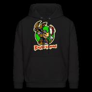 Hoodies ~ Men's Hoodie ~ BadAss Harmonica hoodie w/front logo (black)