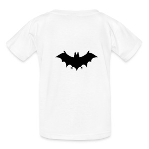 Bat Design on Children's T-Shirt in White - Kids' T-Shirt