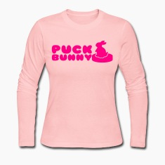 PUCK Bunny for Hockey fans Long Sleeve Shirts