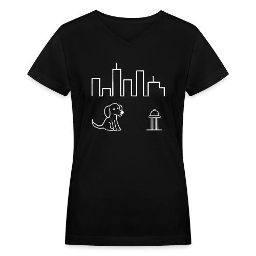 We Run This City  - Women's V-Neck - Women's V-Neck T-Shirt