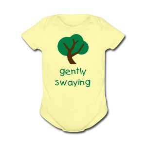 Gently Swaying Baby One Piece Short Sleeve - Short Sleeve Baby Bodysuit