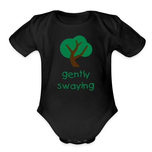 Gently Swaying Baby One Piece Short Sleeve - Organic Short Sleeve Baby Bodysuit