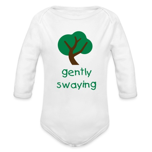 Gently Swaying Baby One Piece - Organic Long Sleeve Baby Bodysuit