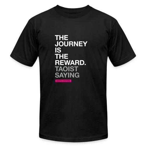 The journey is the reward. --Taoist saying men's shirt in black - Men's  Jersey T-Shirt