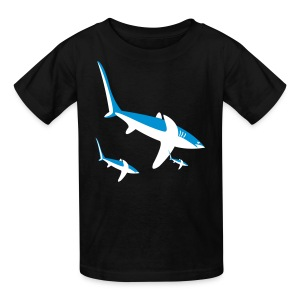 YellowIbis.com 'Animal Symbols' Kids T: Sharks (Black) - Kids' T-Shirt