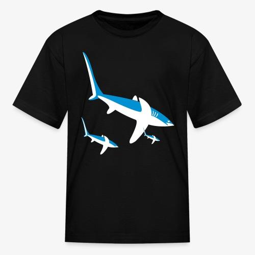 YellowIbis.com 'Animal Symbols' Kids T: Sharks (Black) - Kids' T-Shirt