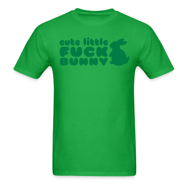 CUTE LITTLE FUCK BUNNY hockey puck womans shirt T-Shirts