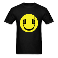 T-Shirts ~ Men's T-Shirt ~ Smiley Headphones