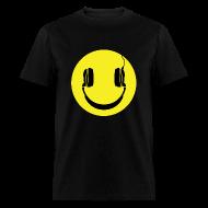 T-Shirts ~ Men's T-Shirt ~ Smiley Headphones