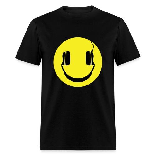Smiley Headphones - Men's T-Shirt