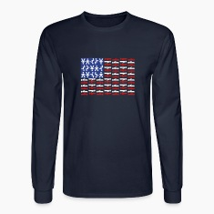 American Skydiving Flag Long Sleeve Shirts