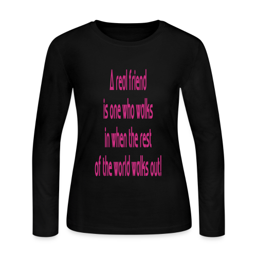 A Real Friend is.... - Women's Long Sleeve Jersey T-Shirt