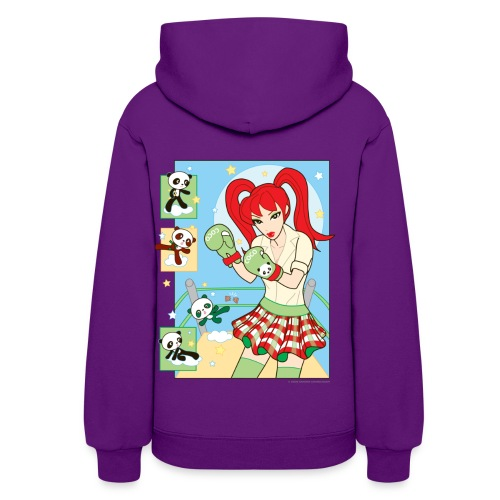 Smashing Red Banzai Chicks Boxing School Girl Ladies Hoodie - Women's Hoodie