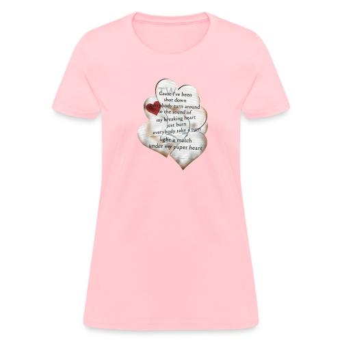Paper Heart T-Shirt  - Women's T-Shirt