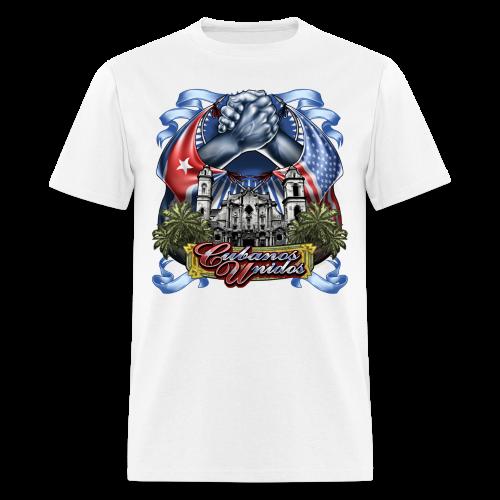 Cubano Unidos on WHT - Men's T-Shirt