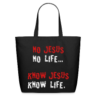 Bags & backpacks ~ Eco-Friendly Cotton Tote ~ no jesus no life