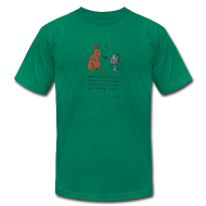 T-Shirts ~ Men's T-Shirt by American Apparel ~ pipe smoking rabbit - Mens color