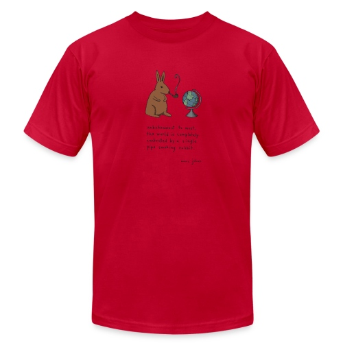 pipe smoking rabbit - Mens color - Men's T-Shirt by American Apparel
