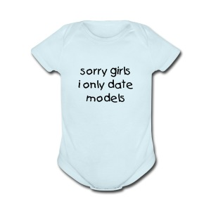 sorry girls - Short Sleeve Baby Bodysuit