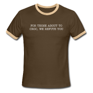 T-Shirts ~ Men's Ringer T-Shirt ~ Those About To Croc Tee